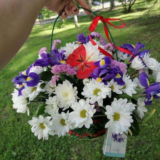 "Корзина ""Звездное небо"": букеты цветов на заказ Flowwow"