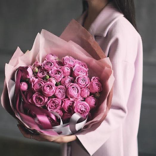 Букет из пионовидных роз Мисти Бабблз: букеты цветов на заказ Flowwow