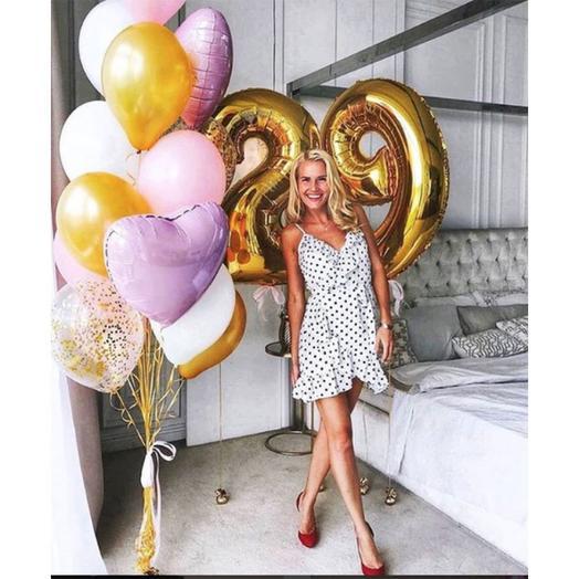 Шары на день рождения «для Неё»: букеты цветов на заказ Flowwow