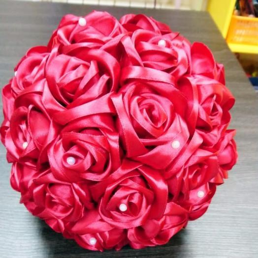 Букет дублёр розы из лент