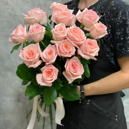 Fragrant bouquet of French roses Pink Ohara