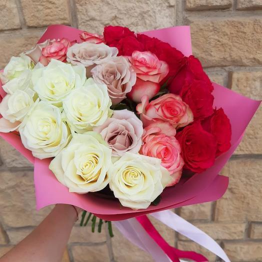 """Букет из роз """"Градиент"""""""