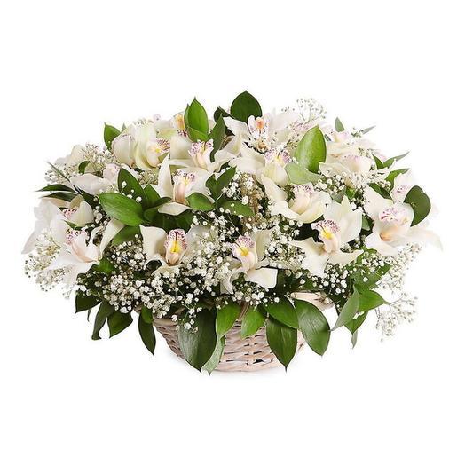 Корзина с цветами Орхидея