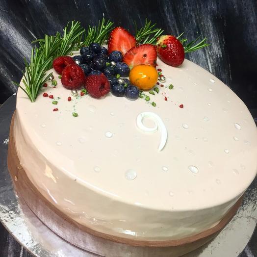 Торт малина-лайм