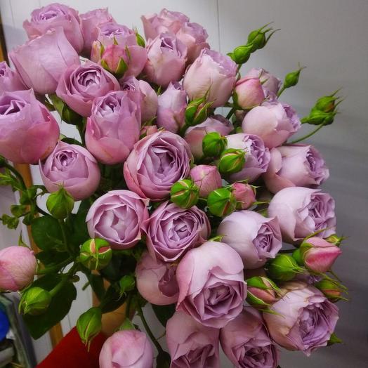 Букет пионовидных лавандовых роз