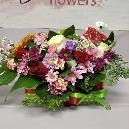 Цветы в коробке- конверт