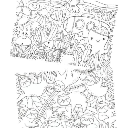 """Большая раскраска А1 """"В мире животных. 2 в 1"""" в тубусе"""