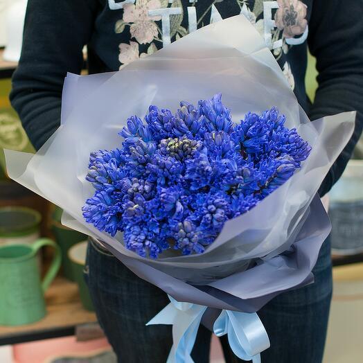 """Букет цветов """"Синие гиацинты"""""""