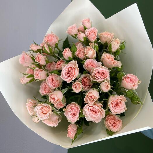 Букет из кустовой розы «Нежность»