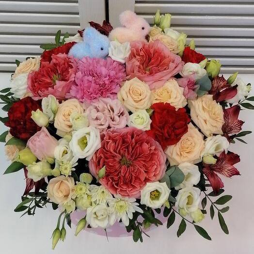"Цветы в коробке ""Чаровница"" 🌺"