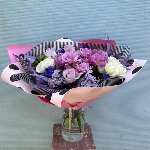 Bouquet in lilac tones