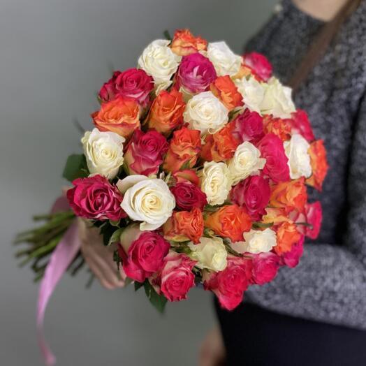 45 роз кения микс