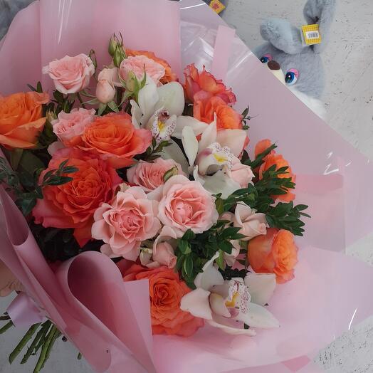Оранж с розовый