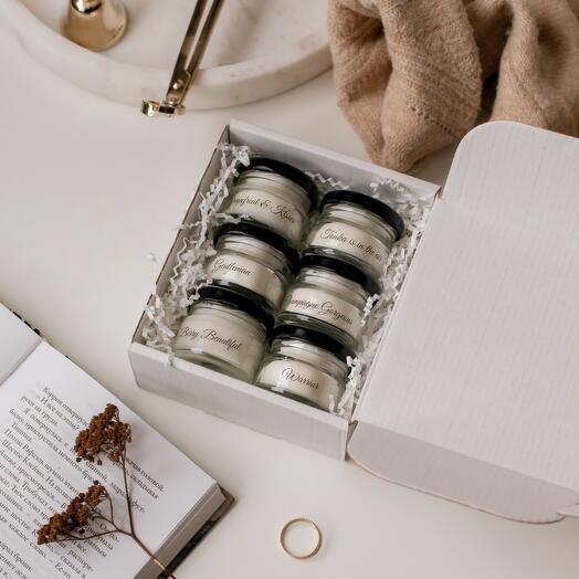 Подарочный набор из 6 мини свечей NEW! 20 мл. из натурального воска