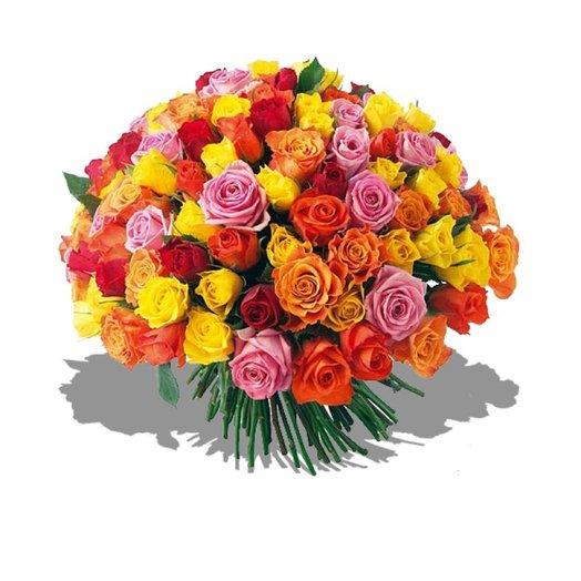 Букет из роз Красочный мир: букеты цветов на заказ Flowwow
