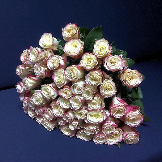Букет из 51 премиум-розы Sweetness 50-60см: букеты цветов на заказ Flowwow