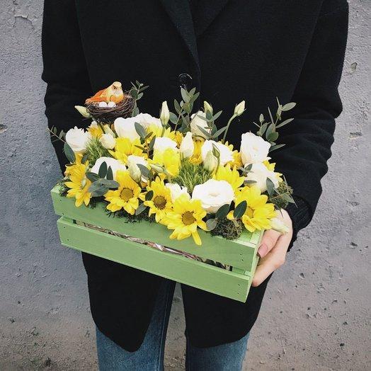 Цветочный ящик Весенний сад: букеты цветов на заказ Flowwow