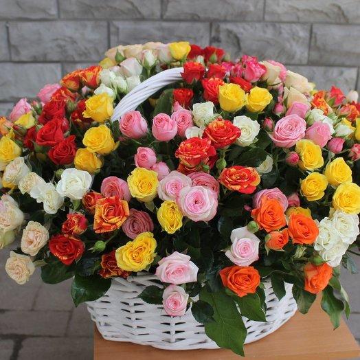 """Корзина """"Невероятный Мегамикс"""": букеты цветов на заказ Flowwow"""