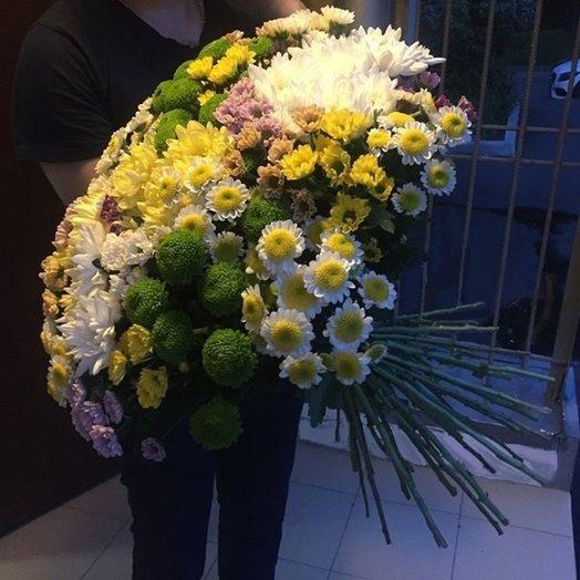 Букет Маме (49 кустовых хризантем): букеты цветов на заказ Flowwow