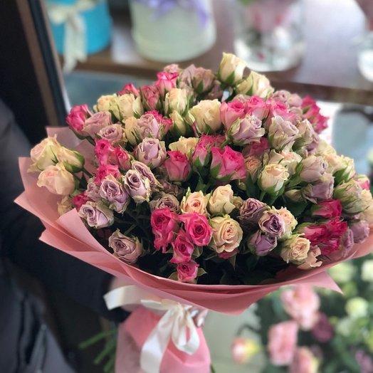 25 кустовых роз микс: букеты цветов на заказ Flowwow