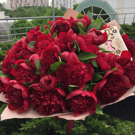 Превосходный пион: букеты цветов на заказ Flowwow