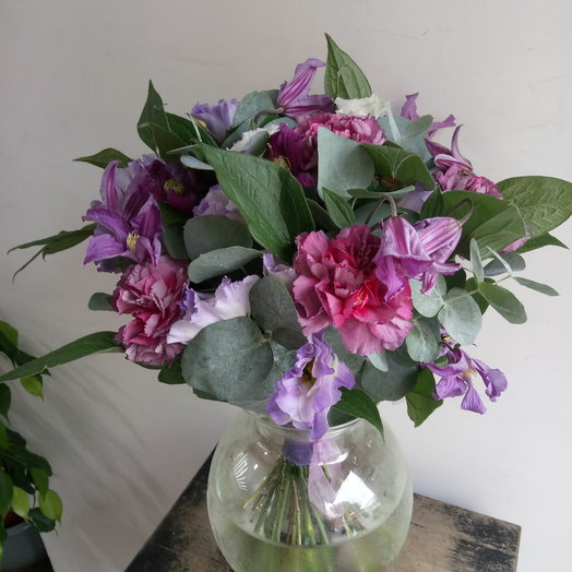 Фиолетовое настроение: букеты цветов на заказ Flowwow