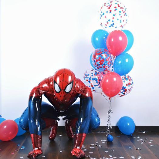 "Ходячая фигура ""Человек паук"": букеты цветов на заказ Flowwow"