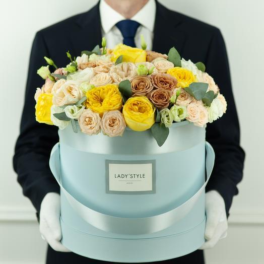 Букет Asti в шляпной коробке XL: букеты цветов на заказ Flowwow