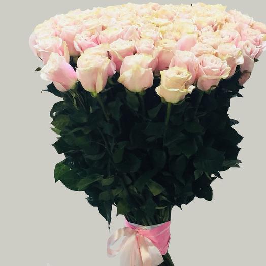 Букет из 51 розы pink mondial: букеты цветов на заказ Flowwow