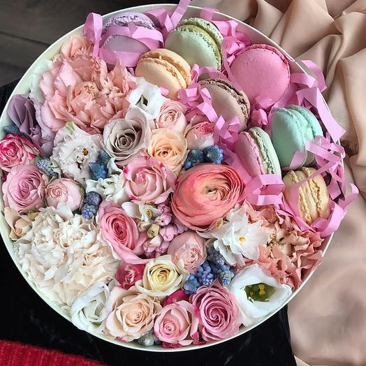 макароны с кустовыми розами