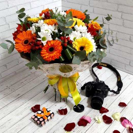 Оранжевое чудо: букеты цветов на заказ Flowwow