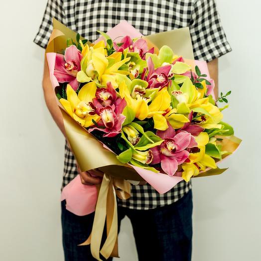 Букет из 29 орхидей: букеты цветов на заказ Flowwow