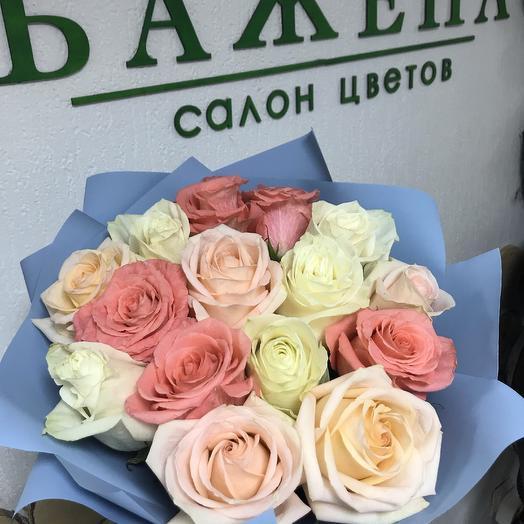 Букет из 15 роз (микс): букеты цветов на заказ Flowwow