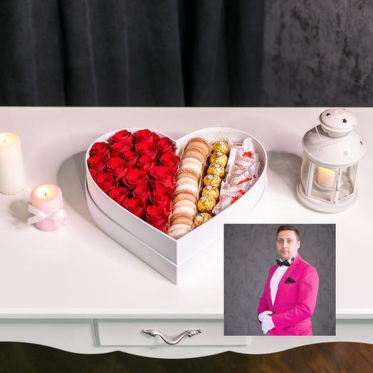 Сладкое сердце с премиум доставкой: букеты цветов на заказ Flowwow