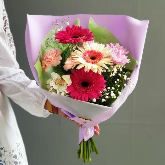 Букет из гербер Здравствуй школа: букеты цветов на заказ Flowwow