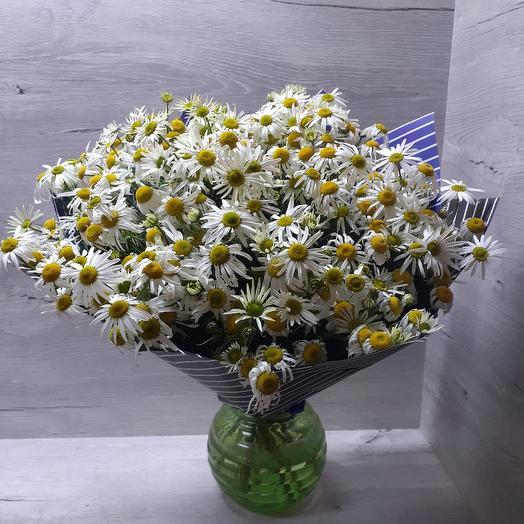 Ромашковый блюз: букеты цветов на заказ Flowwow
