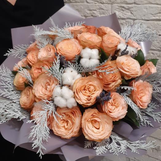 Шикарный букет из пионовидной розы: букеты цветов на заказ Flowwow