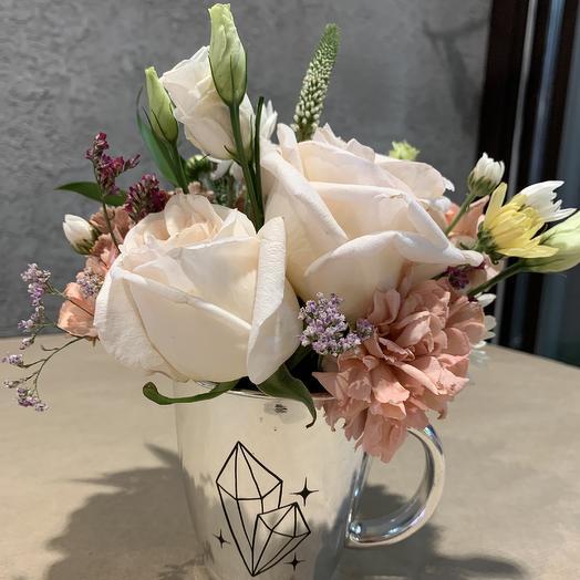 Кружка с цветами: букеты цветов на заказ Flowwow