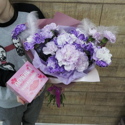 Необычный диантус с предсказаниями: букеты цветов на заказ Flowwow