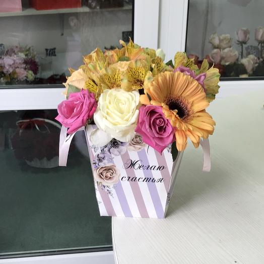 Весёлая сумочка: букеты цветов на заказ Flowwow