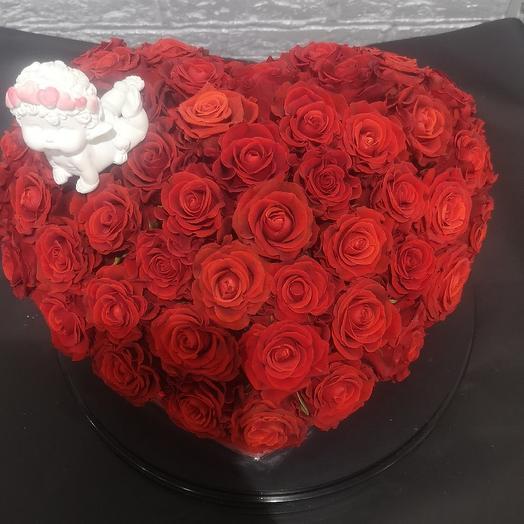 Ангел на сердце: букеты цветов на заказ Flowwow