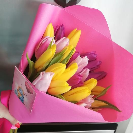 25 тюльпанов «8 марта»: букеты цветов на заказ Flowwow