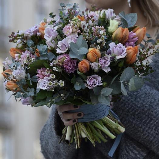 """букет цветов """" Фиалетовое небо"""""""