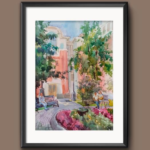 "Картина ""В саду Эрмитаж"": букеты цветов на заказ Flowwow"