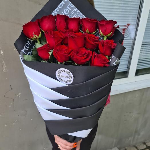 Розы Эквадор в дизайнерской упаковке