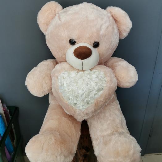 Медведь атласное сердце