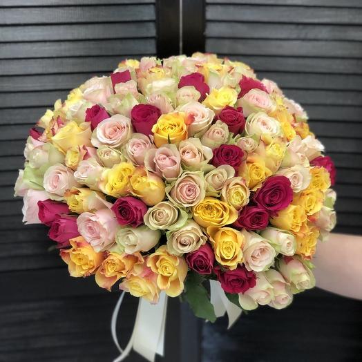 101 кенийская роза 40 см МИКС