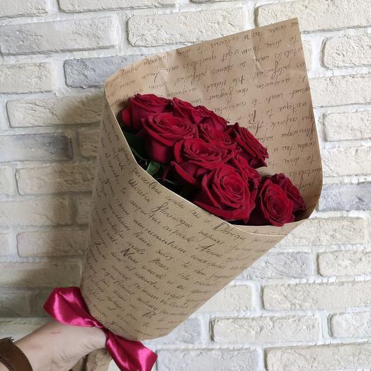 Конверт из 11 роз
