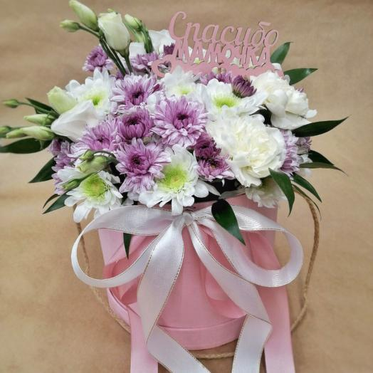 Шляпная коробка с Цветами для Мамы (День Матери)