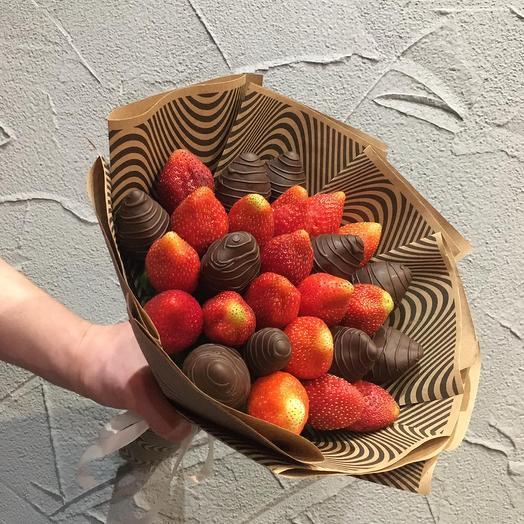 Клубника в шоколаде «Зебра»